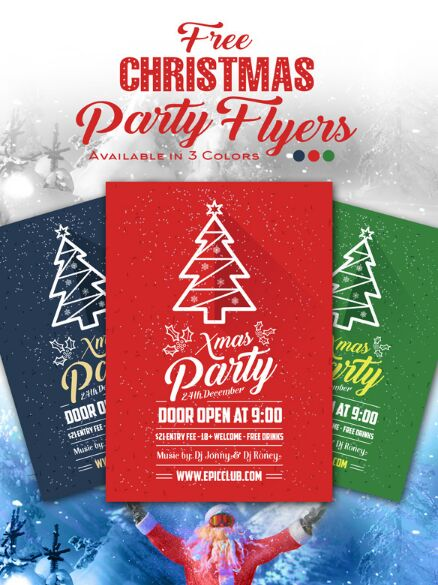 free-a4-christmas-party-flyer-design-template-mock-up-psd