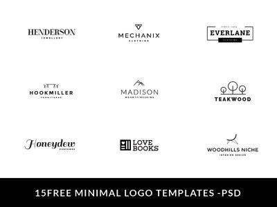 15 Free Minimal Logo PSD