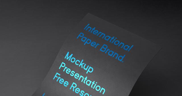 International Psd Paper Mockup