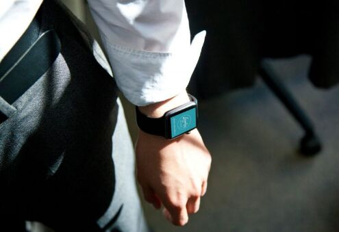 Apple Watch on man's hand