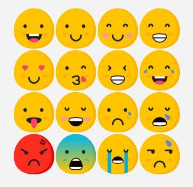 Flat Emoji Pack (EPS, PNG, PSD, SVG)