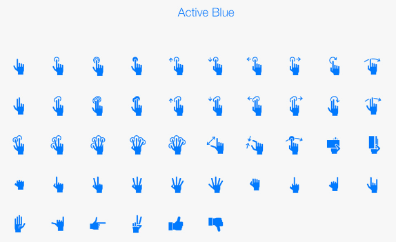 Free Hand Gestures IOS Tab Bar Icons