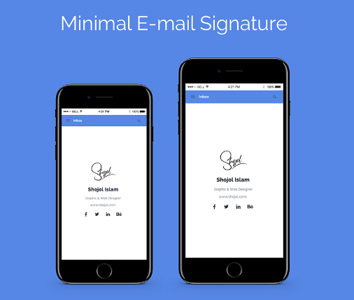 Minimal E-mail Signature template (freebie)