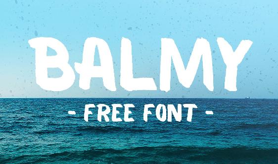 Balmy - Free Brush Font