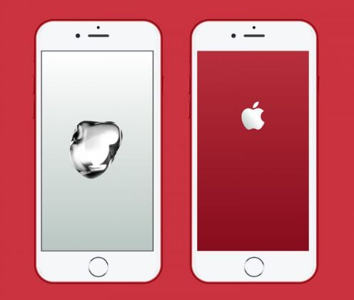 Free Vector Apple iPhone 7 RED Mock-up