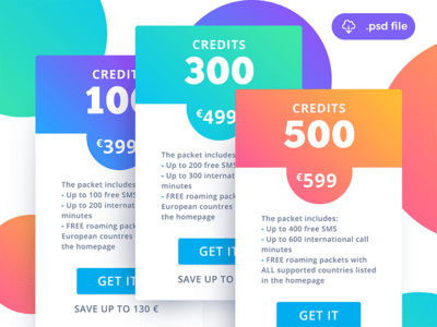 Pricing Tables Freebie