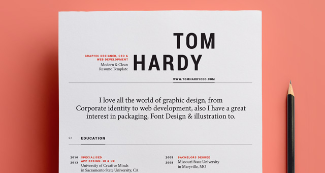 simple resume template vol12 - Resume Templates For Graphic Designers