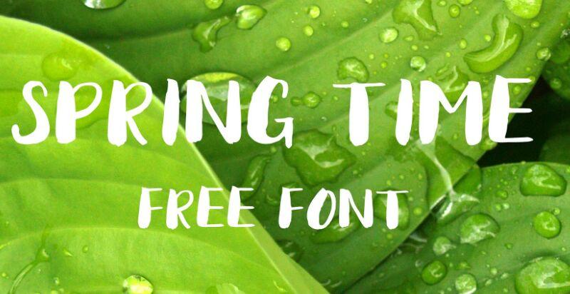 Spring Time Free Font