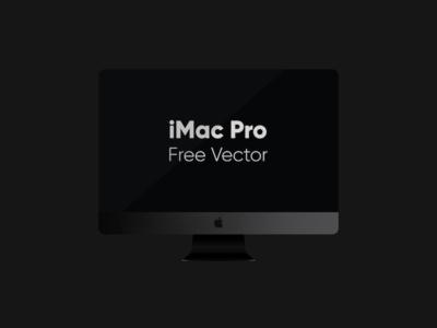 iMac Pro Vector Freebie