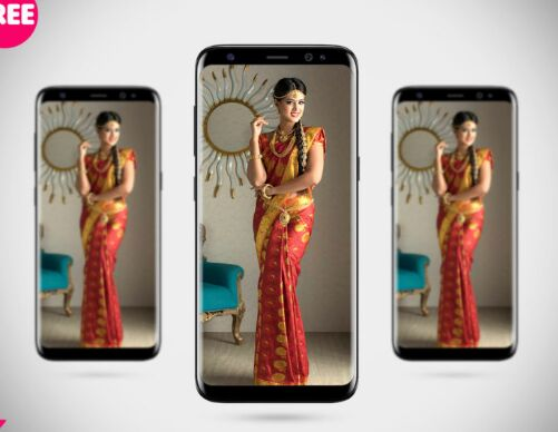 Free Samsung Galaxy S8 Front Mockup PSD