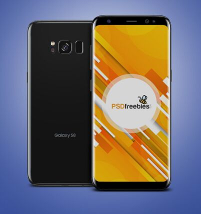 Galaxy S8 Mockup Free PSD