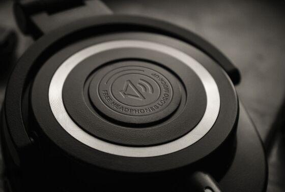Headphones Logo Mock-Up