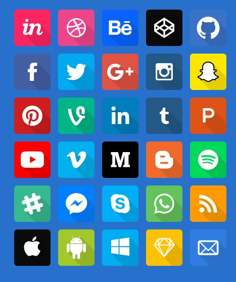 Extended Social Icon Pack-min