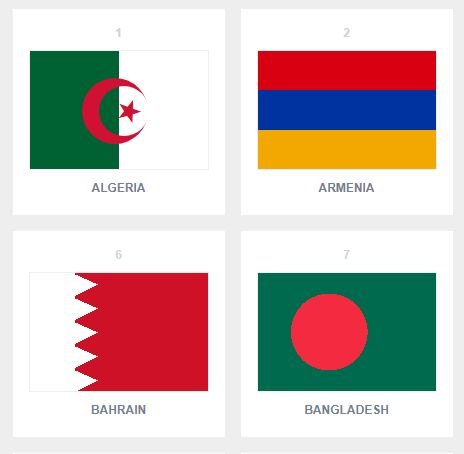 111 Single Div Pure CSS Flags