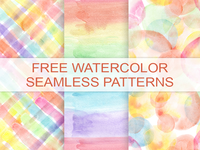 3 WATERCOLOR SEAMLESS PATTERNS