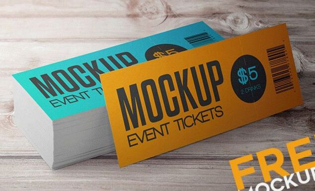 Event Tickets – 12 Free PSD Mockups