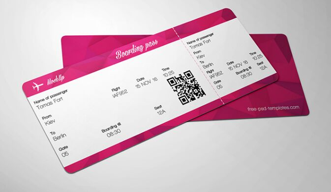 10 full free ticket mock ups psd for branding graphic design