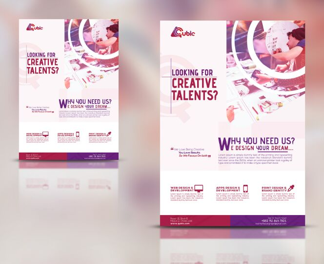 Free PSD Creative agency Flyer