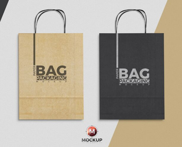 Paper Bag Mockup To Showcase Packaging Designs