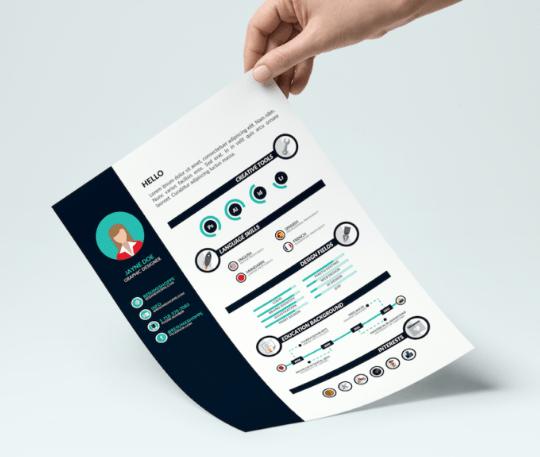 free infographic resume