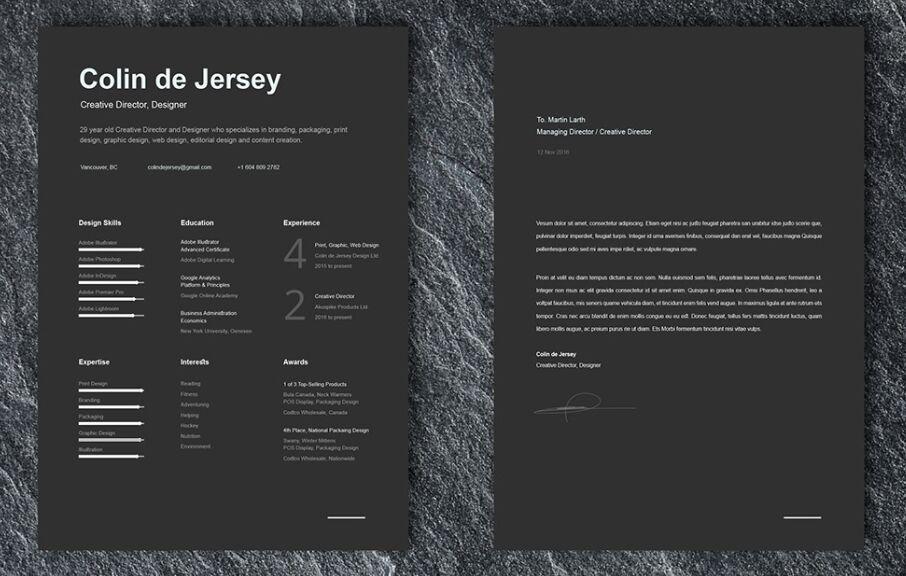 FREE Resume & Cover Letter Templates For Illustrator