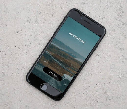 Free iPhone 7 psd mockup – concrete background