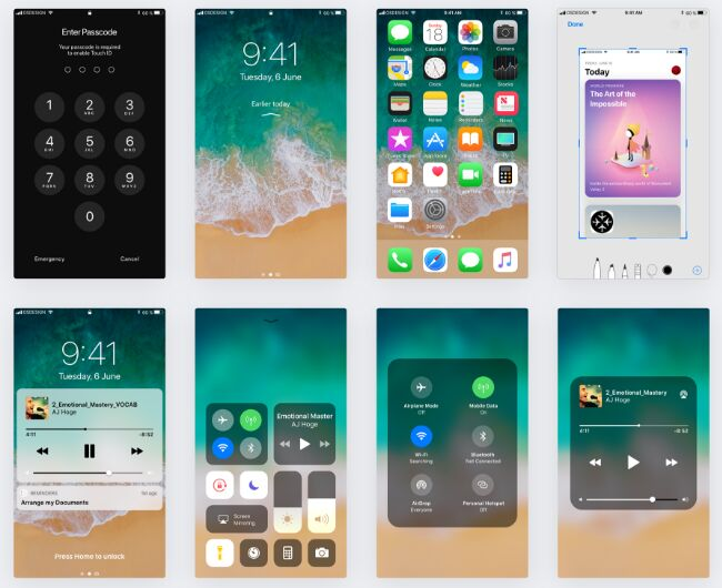 iOS 11 GUI KIT