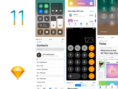 iOS11 GUI Sketch template