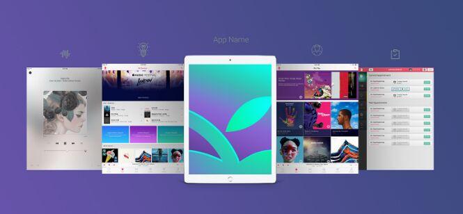 Free Apple iPad Pro App Screen Mockup PSD
