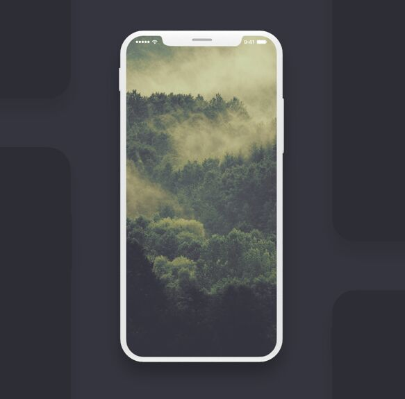 Free iPhone 8 Screen PSD Mockup