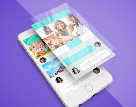 iPhone App Screen PSD Mockup