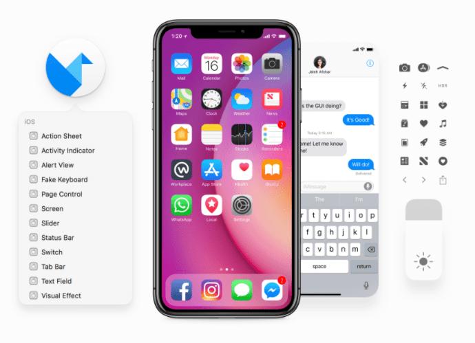 Facebook iOS 11 GUI (iPhone)