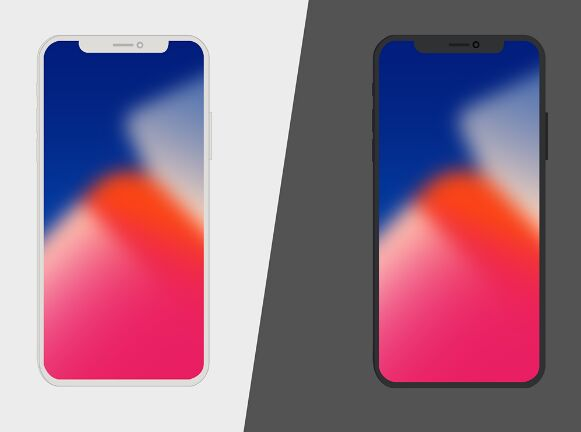 iPhone X PSD Vector
