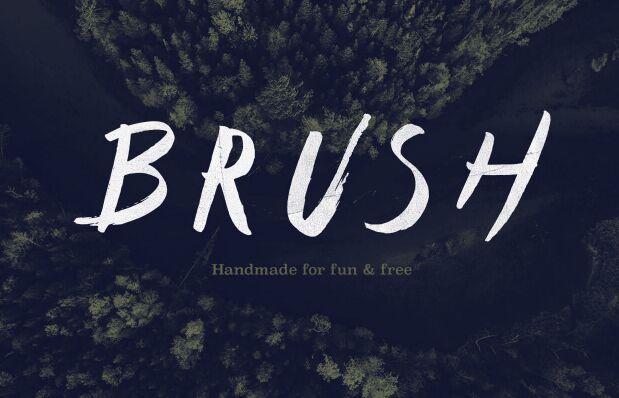 Type - Free brush font