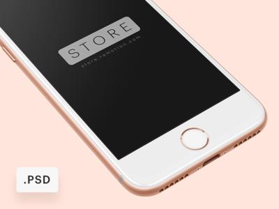 iPhone 8 Free Mockup [PSD]