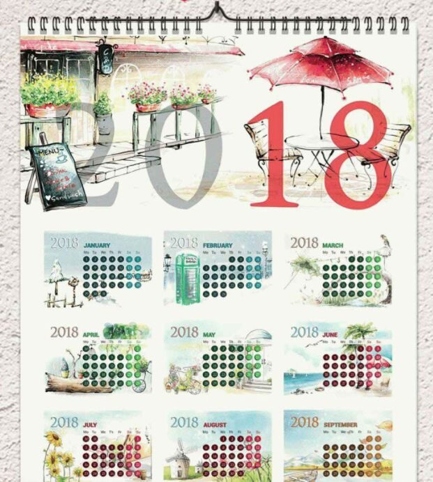 15 Free Printable 2019 Calendar Templates For Designers 365 Web