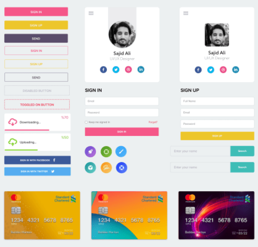 FREE UI KIT for Mobile Web