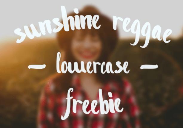 Sunshine Reggae Lowercase Font