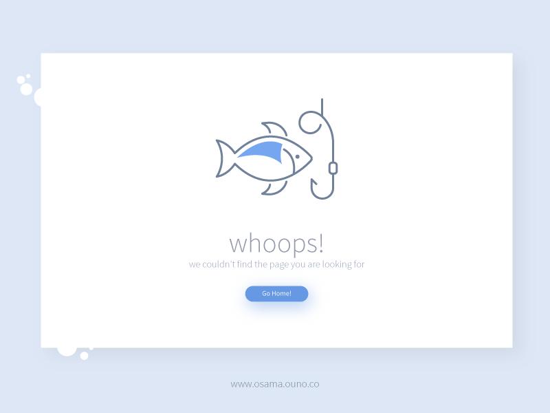 Whoops - Freebie 404 Page