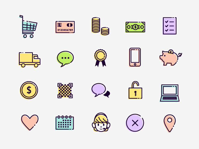 50 free eCommerce Icons-min