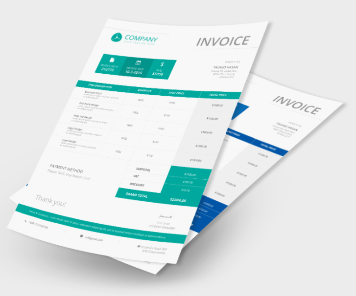15 Best Free Invoice Templates For Graphic Designers 2021 Update 365 Web Resources