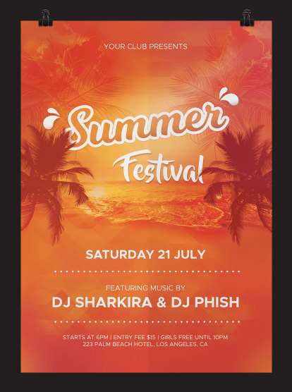 FREE Summer Festival Flyer