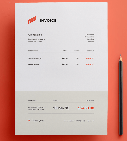 15 Best Free Invoice Templates For Graphic Designers (2018 Edition ...