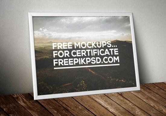 Free Certificate Mockup Psd Download