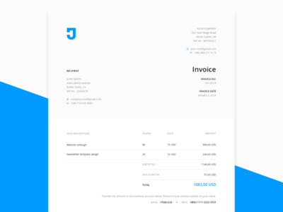 Best Free Invoice Templates For Graphic Designers - Free invoice templates