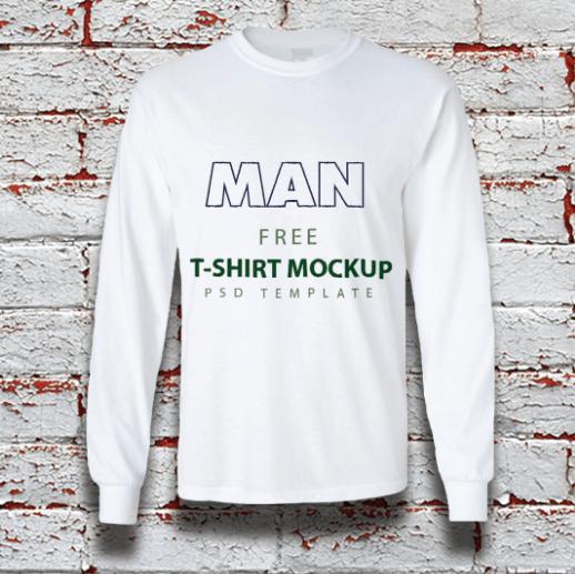 Free MAN T-Shirt Mockup with psd File