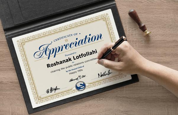 A4 Size Achievement Certificate Mockup PSD-min