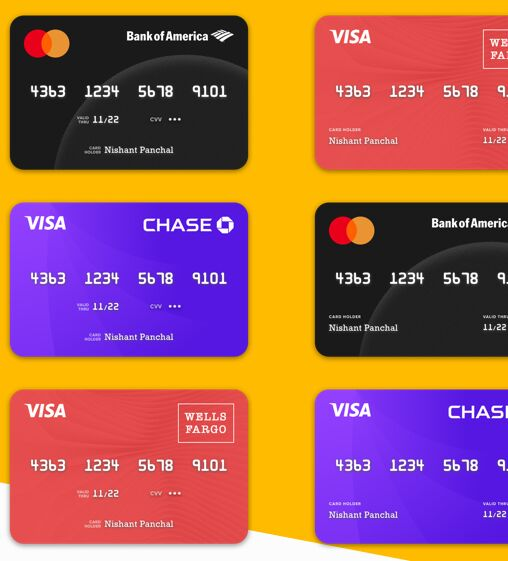 Credit Card Template Freebie