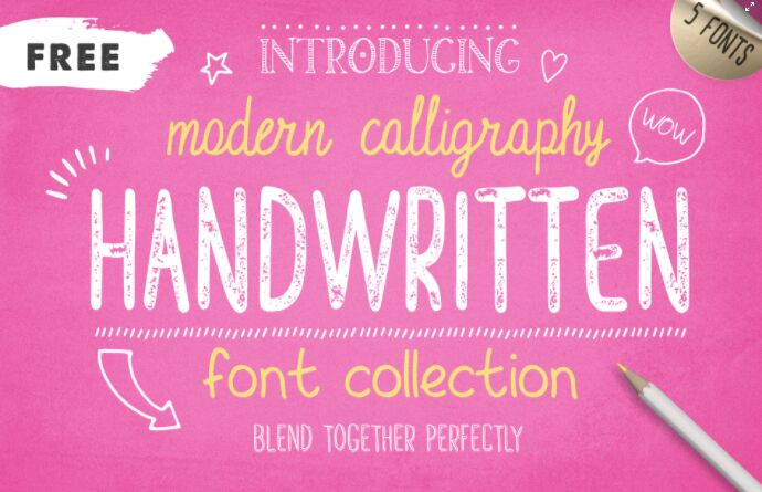FREE FONTS - Handwritten Font Collection