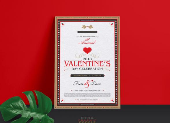 Free 2018 Valentine Flyer Template